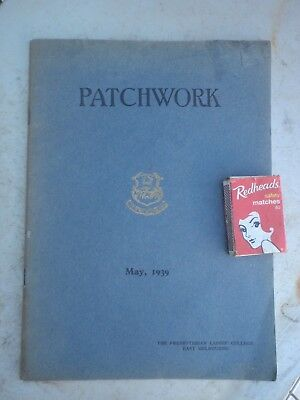 Presybyterian Ladies College 1939  Booklet Illustrated