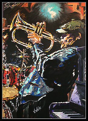 Volker Welz ARTPRINT Flügelhorn Bläser Hornist Horn Jazz Big Band Funk Blues Rap