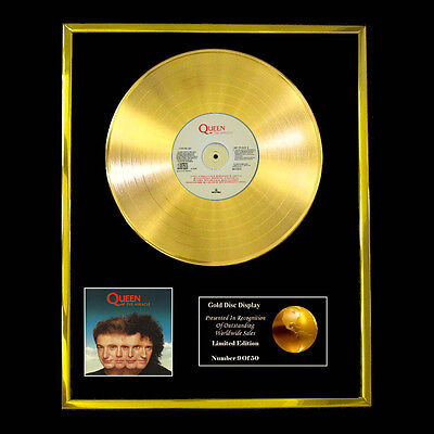Queen The Miracle   Cd  Gold Disc Record Vinyl Lp Award Display  Free P+P!!