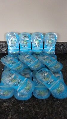 51 Gillette Venus OCEANA Disposable Women Razors Shaver with Aloe 17 packs of 3