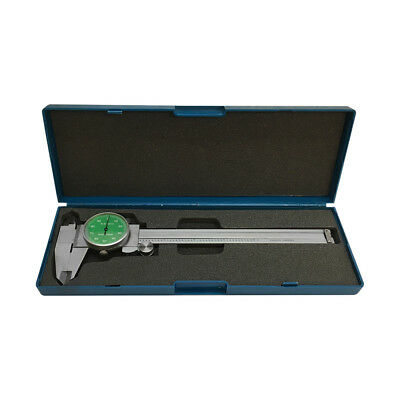 GREEN Face 0-6'' stainless Steel 4 Way Dial Caliper Shock Proof 0.001'' GRAD