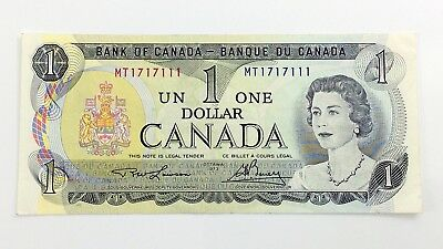 1973 Canada 1 One Dollar MT Prefix Canadian Circulated Currency Banknote I112