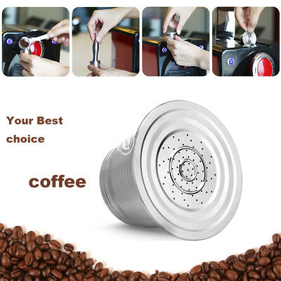 304 Stainless Steel Refillable Reusable Coffee Capsule Pod For Nespresso Coffee