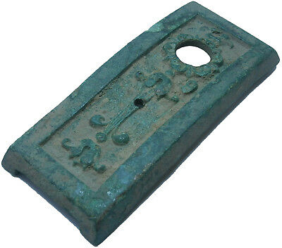 ANTIQUE Fragment ROMAN empire or VIKING Period BRONZE Old EUROPE 93x39x8 mm