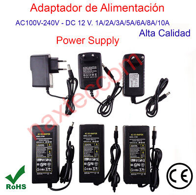 Transformador Alimentador, AC220 - DC12V - 1A,/2A/3A/5A/6A/8A/10A Power Supply