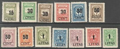 Germany (Lithuania) Memel 1923 Mi 193-205, MLH OG