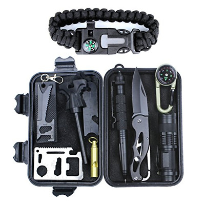 New 11in1 Professional Survival Kit Outdoor Travel Hike Field Camp Emergency Kit