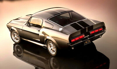 Eleanor  Ford Mustang Shelby Gt Meter Wide Glossy Poster Art Print