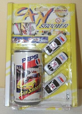 Vintage Pepsi Golden Wheel Can Shooter With Three Vehicles 1996 - Unopened