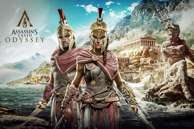 Laminated Alexios Assassins Creed Odyssey Art Poster 61 X 91 Cm ( 24X36 Inch)
