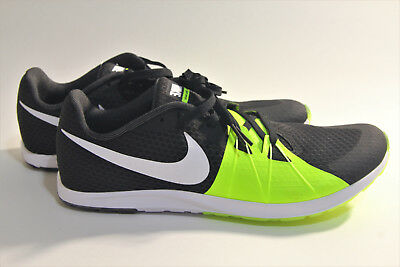 4851efbeb89545 Nike Mens Size 10.5 Zoom Rival Waffle Black White Volt Barely Volt  904720-017