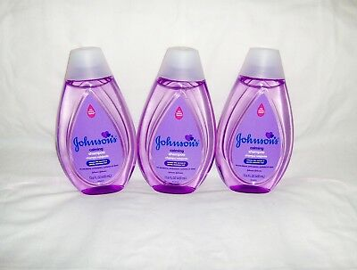 Johnson's Calming Baby Shampoo 13.6 fl oz - Lot of 3 Bottles No More Tears