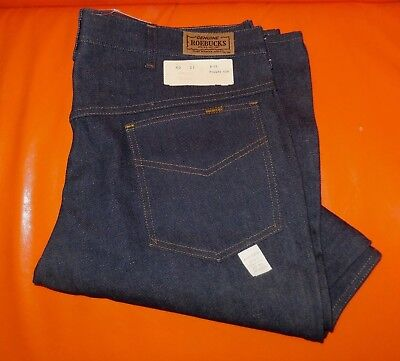 60er 70er Jahre Vintage Sears Roebucks Jeans Denim Ungetragen USA Rockabilly L