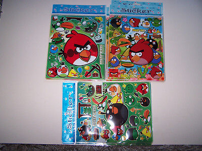 Wholesale of 27 x A4 Sheets of Angry Bird Stickers. Brand New & Factory Sealed.