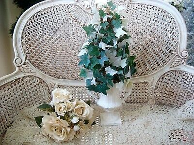 Shabby Ivy Cone Topiary In Gorgeous Urn ***elegant & Unique****