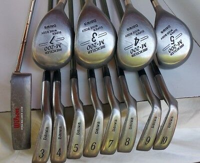 Japan Complete Men's Golf Set DAIWA Hi-Trac TCS STIFF 3-10 Iron,4 Woods BOnus