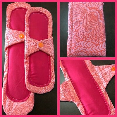 2 Reusable Cloth Menstrual Pads Night & Day Mixed Set Period Products Absorbent