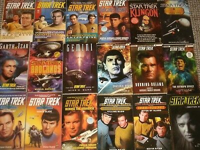 Star Trek Paperbacks: Next Generation, Original, Voyager, DS9, Kirk, Picard, etc