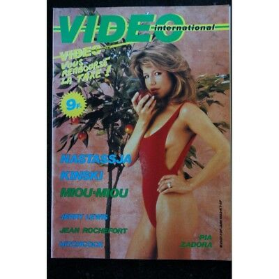 VIDEO international   7  *  juin 1983   NASTASSJA KINSKI  MIOU MIOU  Jerry LEWIS