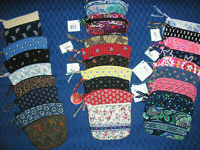 Vera Bradley Varied Assortment Of Small & Medium Cosmetic/MakeUp Bags Some Rare!
