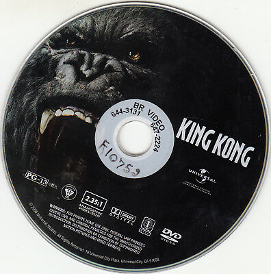 King Kong (DVD, 2006, Full Frame) DISC ONLY
