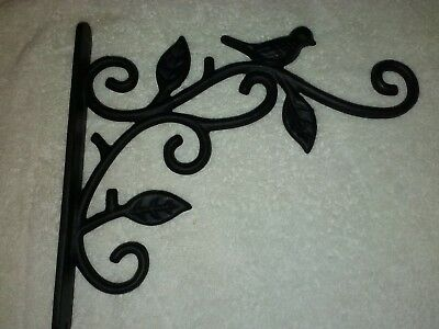 Vtg. Plant Hanger Hook Cast Iron for Flower Basket Bird Cage Nice Heavy Duty
