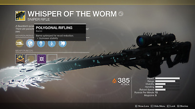Destiny 2 Shadowkeep Whisper of the Worm normal/heroic Recovery PS4/PC