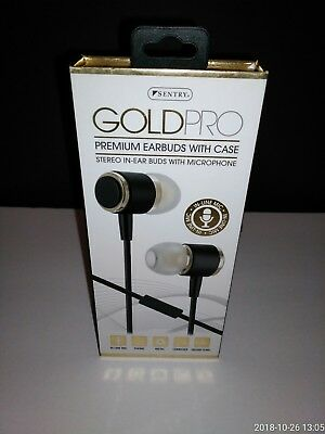 de310feb86d H8002 - SENTRY Gold Pro Metal Earbuds with In-Line Mic & Deluxe Case ...