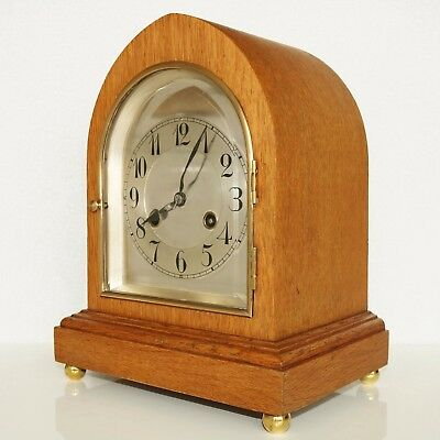 JUNGHANS Antique German Mantel Clock REAL BAUHAUS Mantel GONG Chime Shelf 1920s
