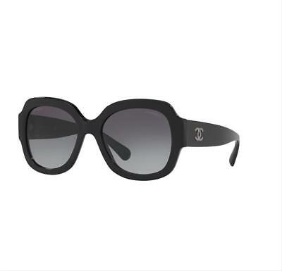 a2bcb9a8e02 Chanel Black Sunglasses 5373 501 s6 Round Large Oversized Women s