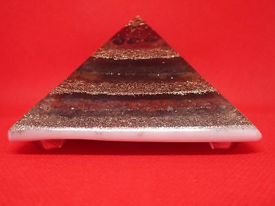 Extra Large LG 70mm Garnet Orgone Root Chakra Pyramid EMF Protection FengShui