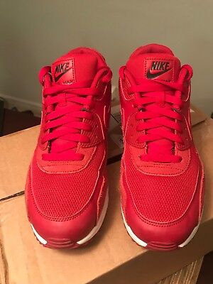 MEN'S NIKE AIR Max 90 Sneakers Casual Athletic Size 9 Red