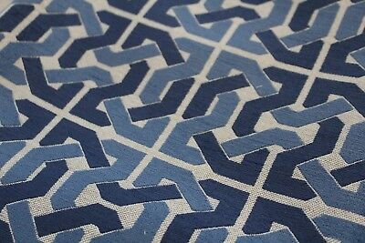 2 yds Groundworks CLIFFONEY BLUE Designer Fabric by David Hicks