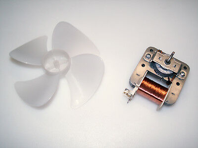 """4.9"""" Cooling/Vent Fan - 120VAC 20W - Open-frame Motor, 4-blade - Project, Hobby"""