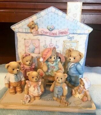 """Lot of 8 Cherished Teddies - """"Our Cherished Family"""" (pre-owned)"""