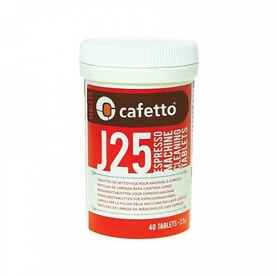 Cafetto J25 Machine Cleaning Tablets (40 Tablets) Jura Krups FREE COFFEE SAMPLE