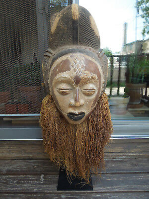 HUGE ~  BEAUTIFUL PUNU MASK from GABON ~ MOUNTED !!!