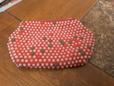 Old Vintage Beaded Coin Purse, Zipper