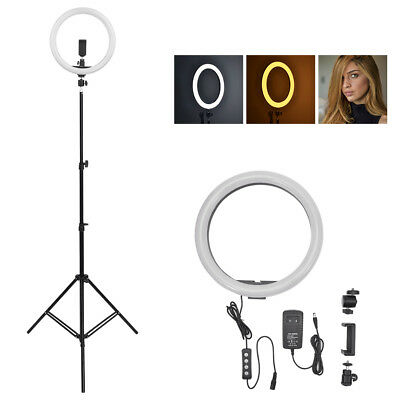 2M SMD LED Ring Light Dimmable 4100K Continuous Lighting makeup Photo Video Kit