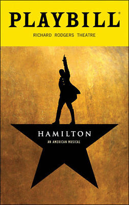 100 Lin Manuel Miranda's Hamilton Broadway Theater Musical July 2018 Playbill NY
