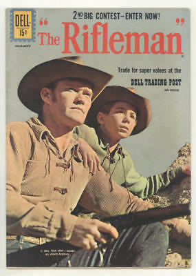 1961 THE RIFLEMAN #9 TV western comic book.CHUCK CONNORS, JOHNNY CRAWFORD. Fine!