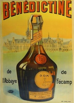 BENEDICTINE, France, Vintage Beers, Wines & Spirits Alcohol Poster
