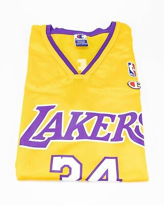 b225548f873 Los Angeles Lakers – Shaquille O'Neal #34 Jersey – Men's Medium – Yellow