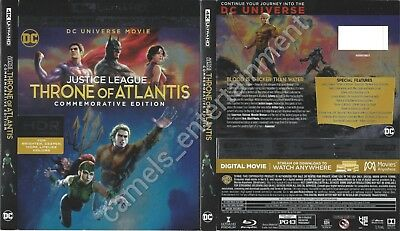 Justice League: Throne of Atlantis (4K Ultra HD [UHD] Blu-ray SLIPCOVER ONLY)
