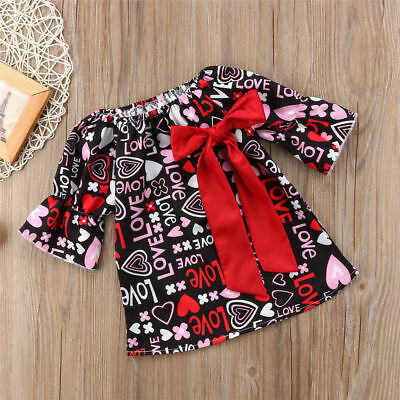 Valentines Day Gift Baby Girl Dress Kid Party Pageant Formal Dresses Toddler USA