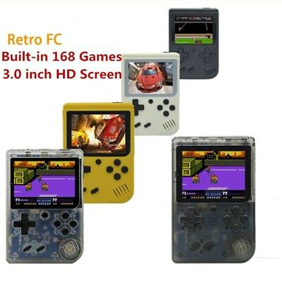 "3.0"" Retro FC Mini TV Handheld Game Console Built-in 168 Games Pocket Consoles &"