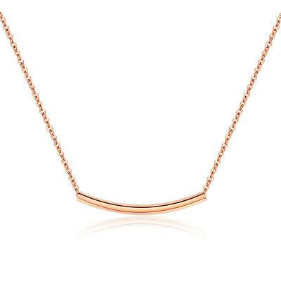Fashion jewelry Rose gold Plating Stainless Steel Women Charm Necklace Pendants