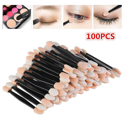 Lot 100pcs Disposable Dual Sides Eye Shadow Sponge Applicator Makeup Brush POZ