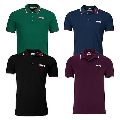 Lonsdale Lion Classic Polo Shirt 100% Cotton Pique Boxing Embroidered Slim-Fit