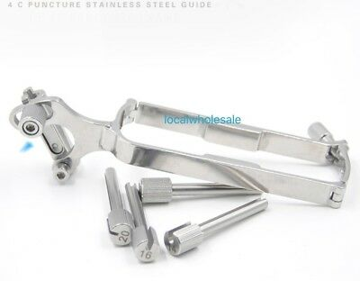 Reusable Stainless Steel Biopsy Needle Guide For GE 4C Ultrasound probe